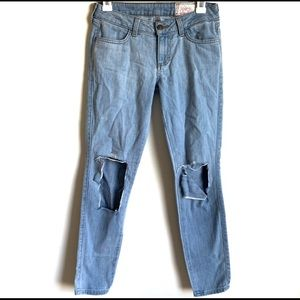 Siwy 25 Jeans Distressed Light Wash Hannah Crop